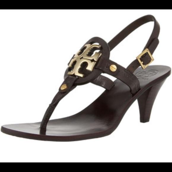 6787f24ec9d5 Tory Burch Black Kitten Heel Thong Sandal Size 8. M 5abbafdf3a112e68fd63c393